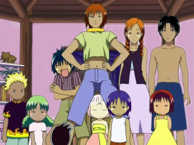Anime frames: &;jungle wa itsumo hale nochi guu&;. кадры из